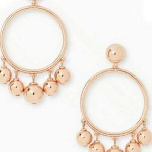Kate Spade Rose Gold Bauble Hoop Earrings NWT